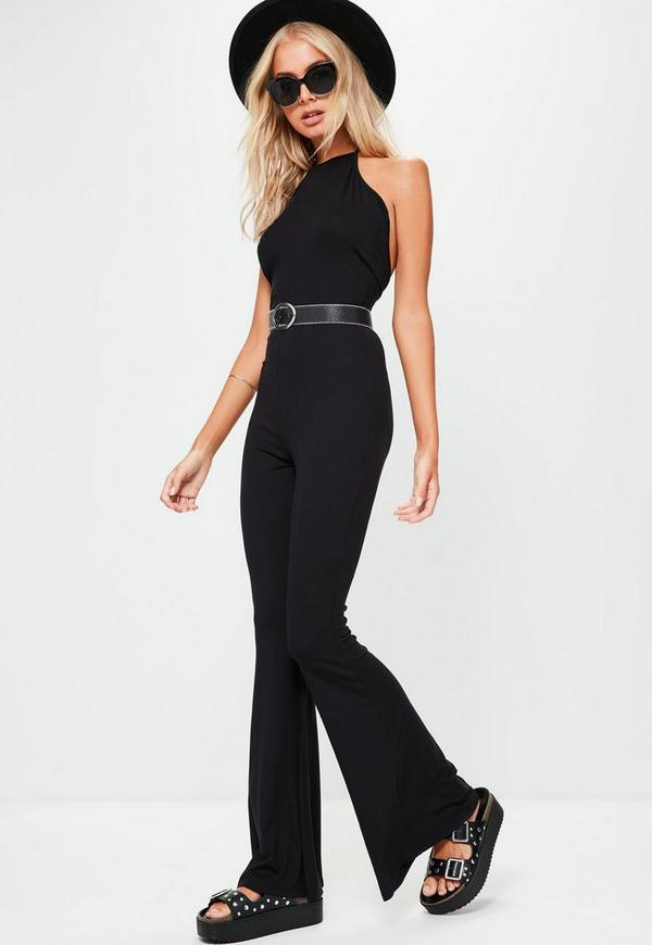Get in on the '70s trend with the Missguided Petite Black Bandeau Flared Leg Jumpsuit ($51).
