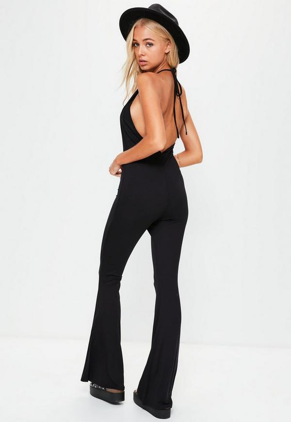 See all results for flare leg jumpsuits for women. GoodLock. Clearance!! Casual Yoga Harem Pants For Women GoodLock Plus Size Solid Loose Pants Trousers. from $ 0 Women's Black Denim Destroyed Ankle Length Skinny Jeans Long Length Ripped Hole Trousers Pants,M. from $ 29 99 Prime. out of 5 stars