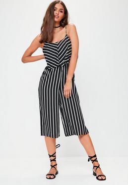 Black Stripe Cami Culotte
