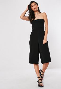 Combinaison jupe culotte noire bandeau