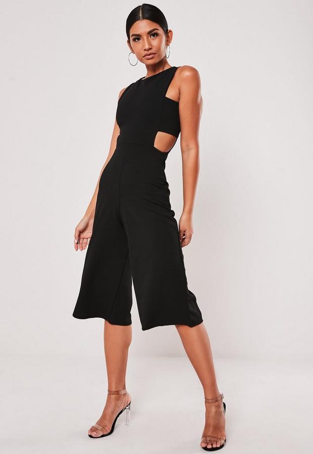 Missguided - Side Tab Culotte Jumpsuit - 2