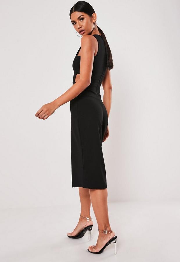 Missguided - Side Tab Culotte Jumpsuit - 4