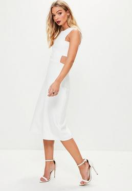 White Tab Side Culotte Jumpsuit