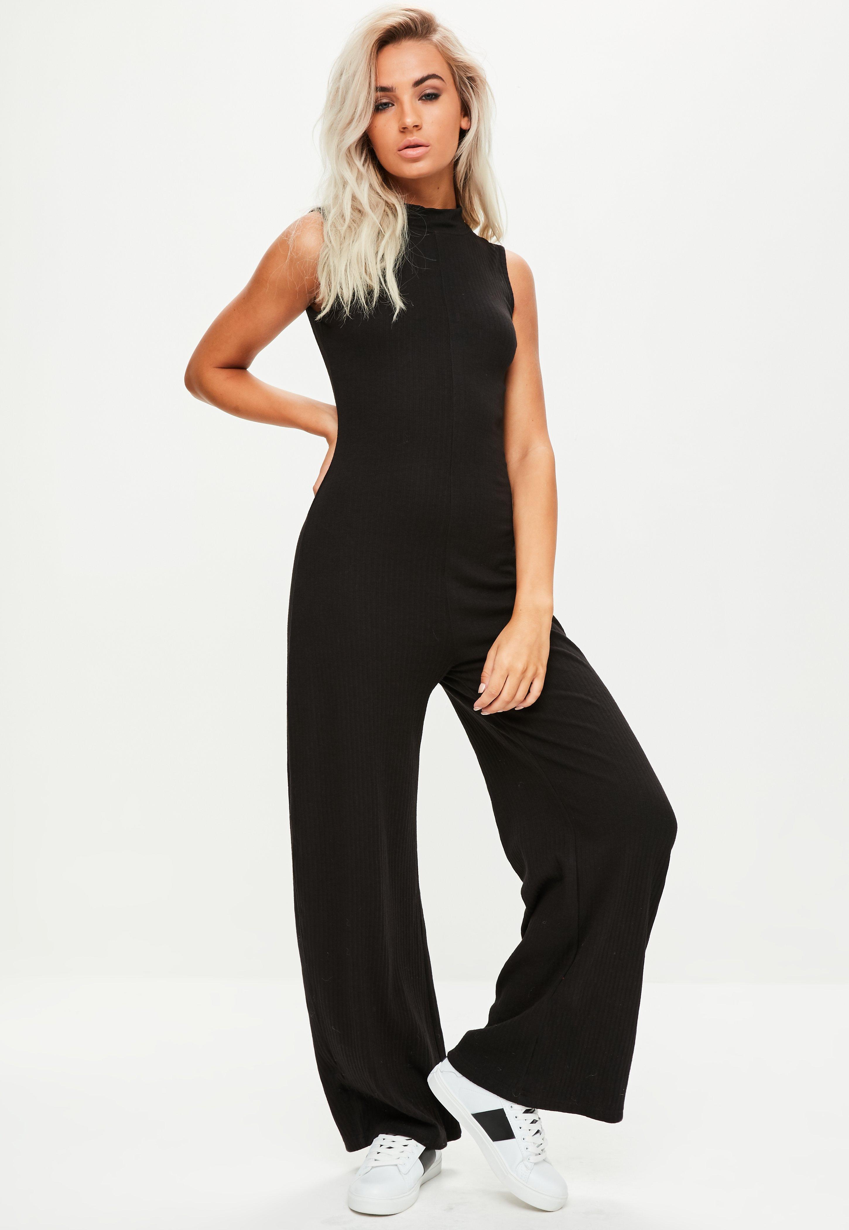 06de2faad37b Black High Neck Sleeveless Jumpsuit