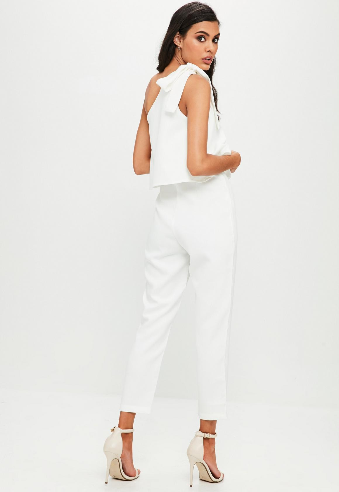 a500ea4f379 Missguided One Shoulder Bow Jumpsuit at £28
