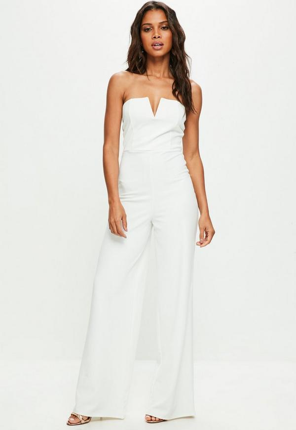 c404e44a6ffd ... White Bandeau Wide Leg Jumpsuit. Previous Next