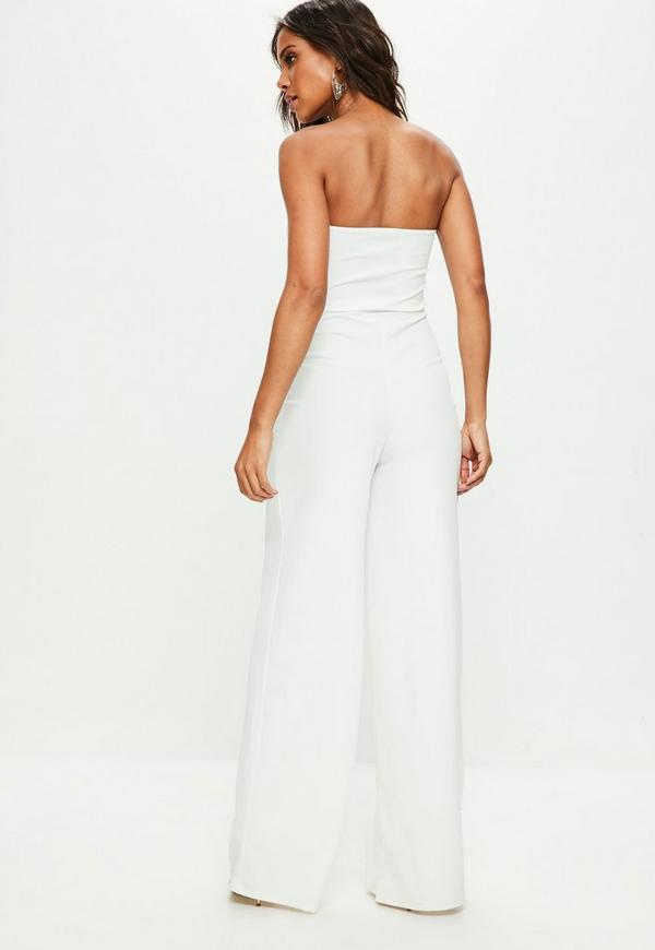 4915f775562 ... White Bandeau Wide Leg Jumpsuit. Previous Next