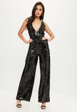 All Over Sleeveless Sequin Jumpsuit