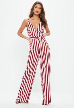 Cami Stripe Tie Waist Jumpsuit