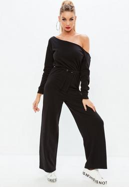 Black Loopback Jumpsuit