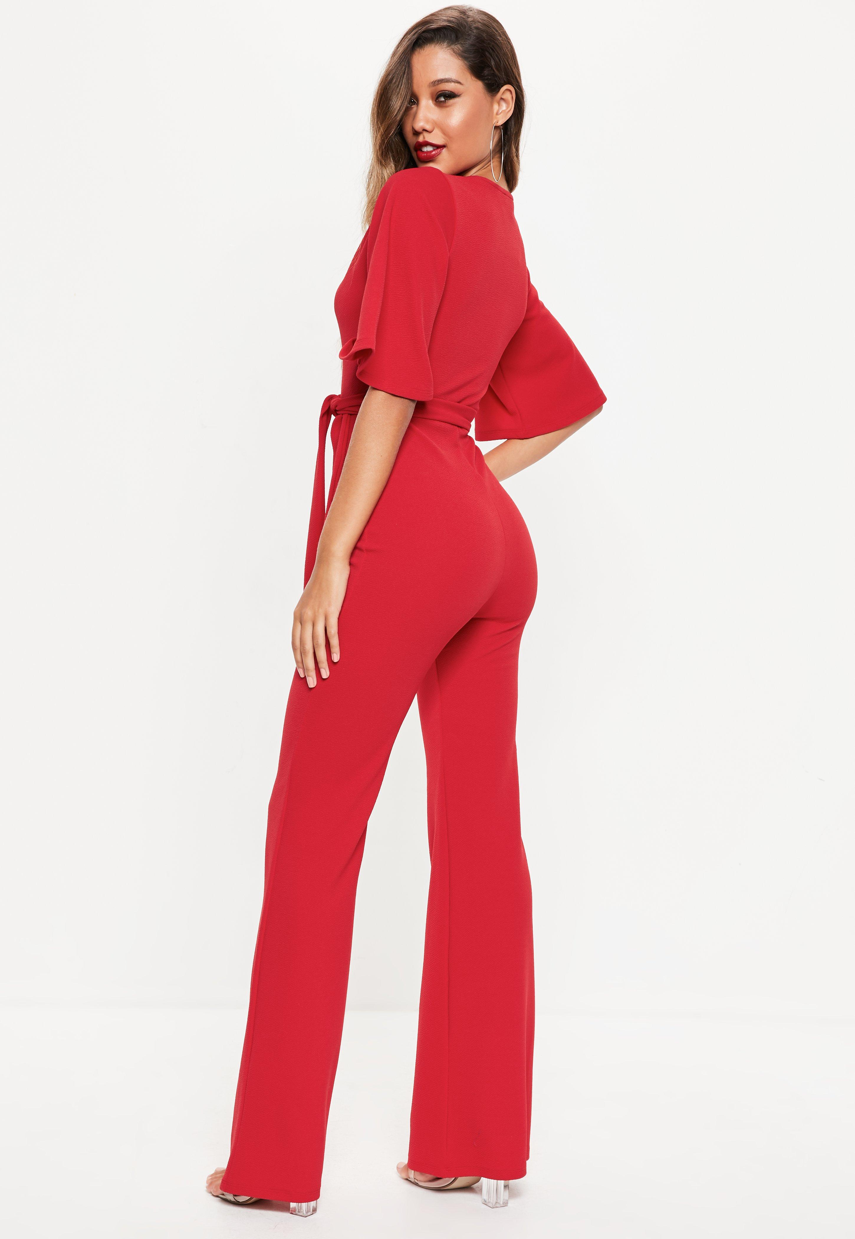 Missguided Kimono Sleeve Plunge Jumpsuit Limited Edition Cheap Online Outlet Cheap Price Cheap Sale Reliable Sale Top Quality In China Online TaCFtEtpe