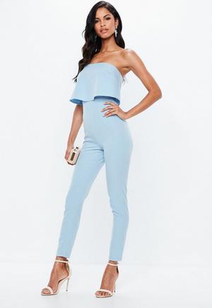 2bcabce6bbd1 £15.00. blue bandeau double layer jumpsuit