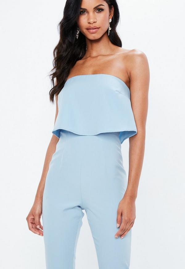 2dc34b306194 ... Blue Bandeau Double Layer Jumpsuit. Previous Next