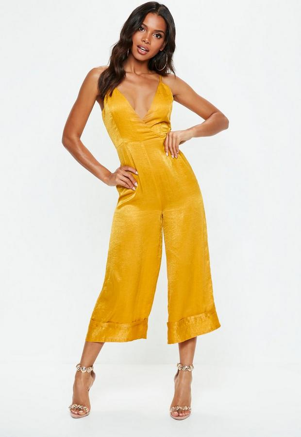 Mustard Yellow Cami Culotte Romper