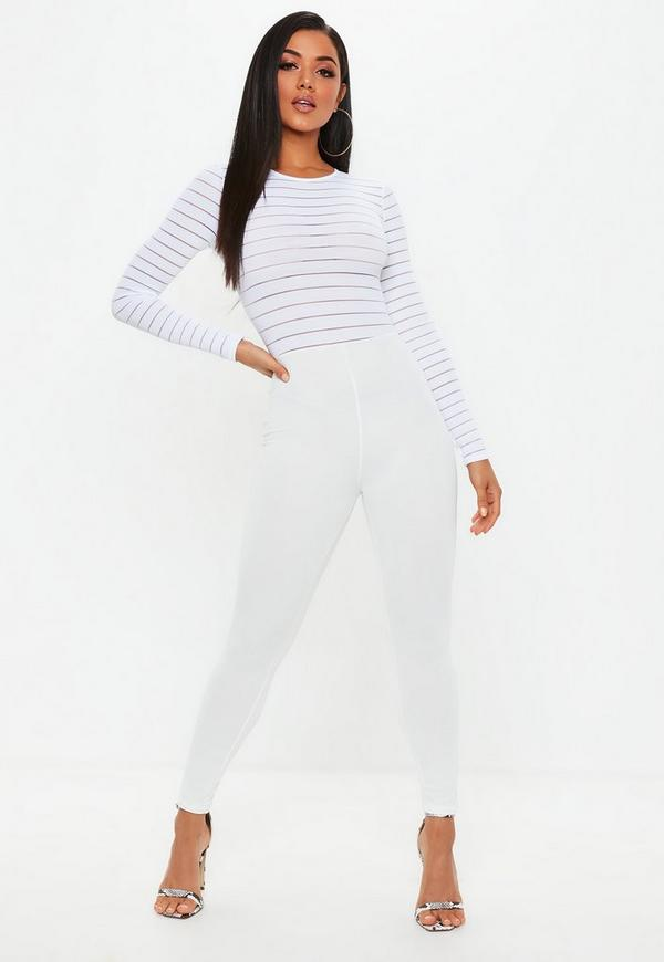 d89604cb5b3a White Burn Out Mesh Jumpsuit