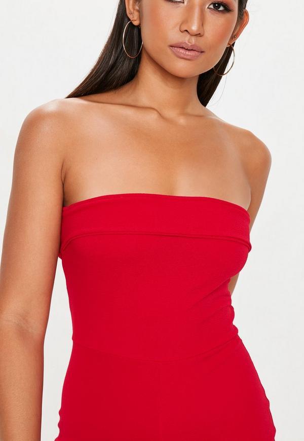 451458599e1 Red Bandeau Fold Jumpsuit. Previous Next