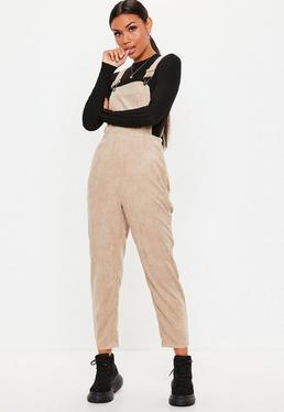 Stone Cord Dungaree Jumpsuit