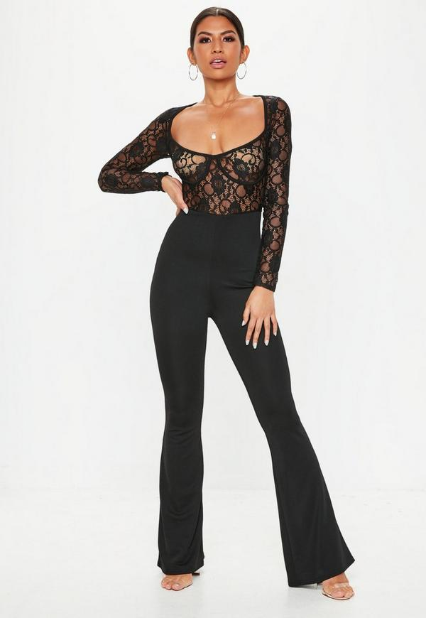 3df2dbb389eb Black Lace Cupped Jumpsuit