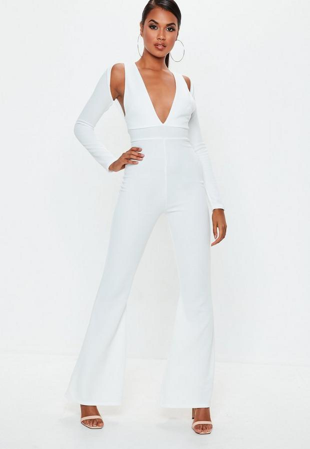 Missguided - Long Sleeve Cut Out Jumpsuit - 1