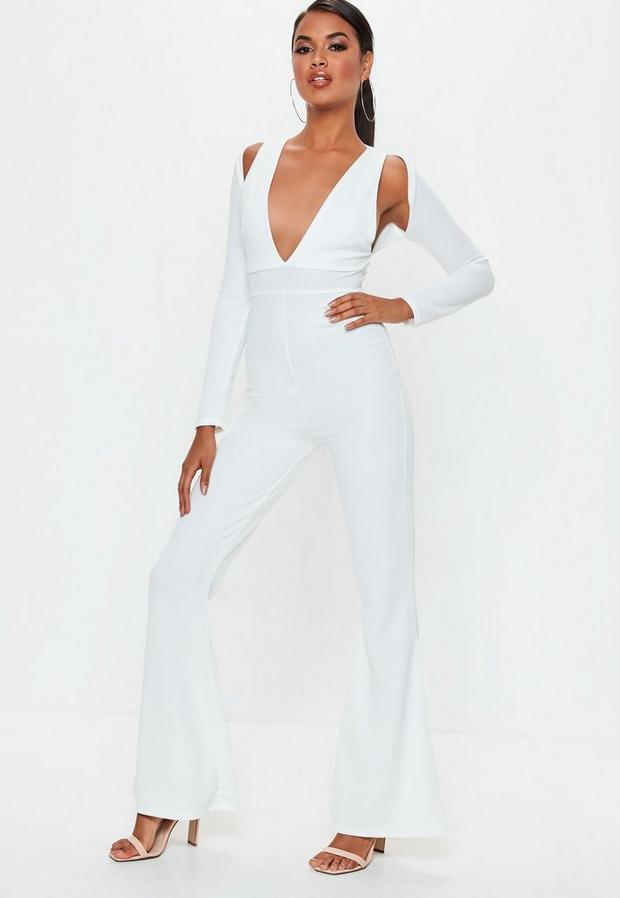 Missguided - Long Sleeve Cut Out Jumpsuit - 2