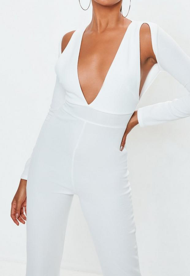 Missguided - Long Sleeve Cut Out Jumpsuit - 3