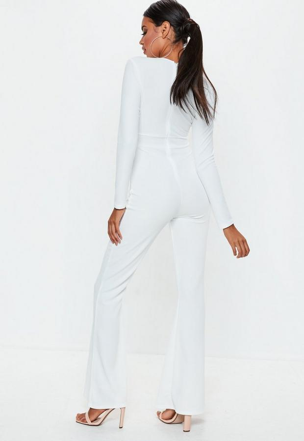 Missguided - Long Sleeve Cut Out Jumpsuit - 4