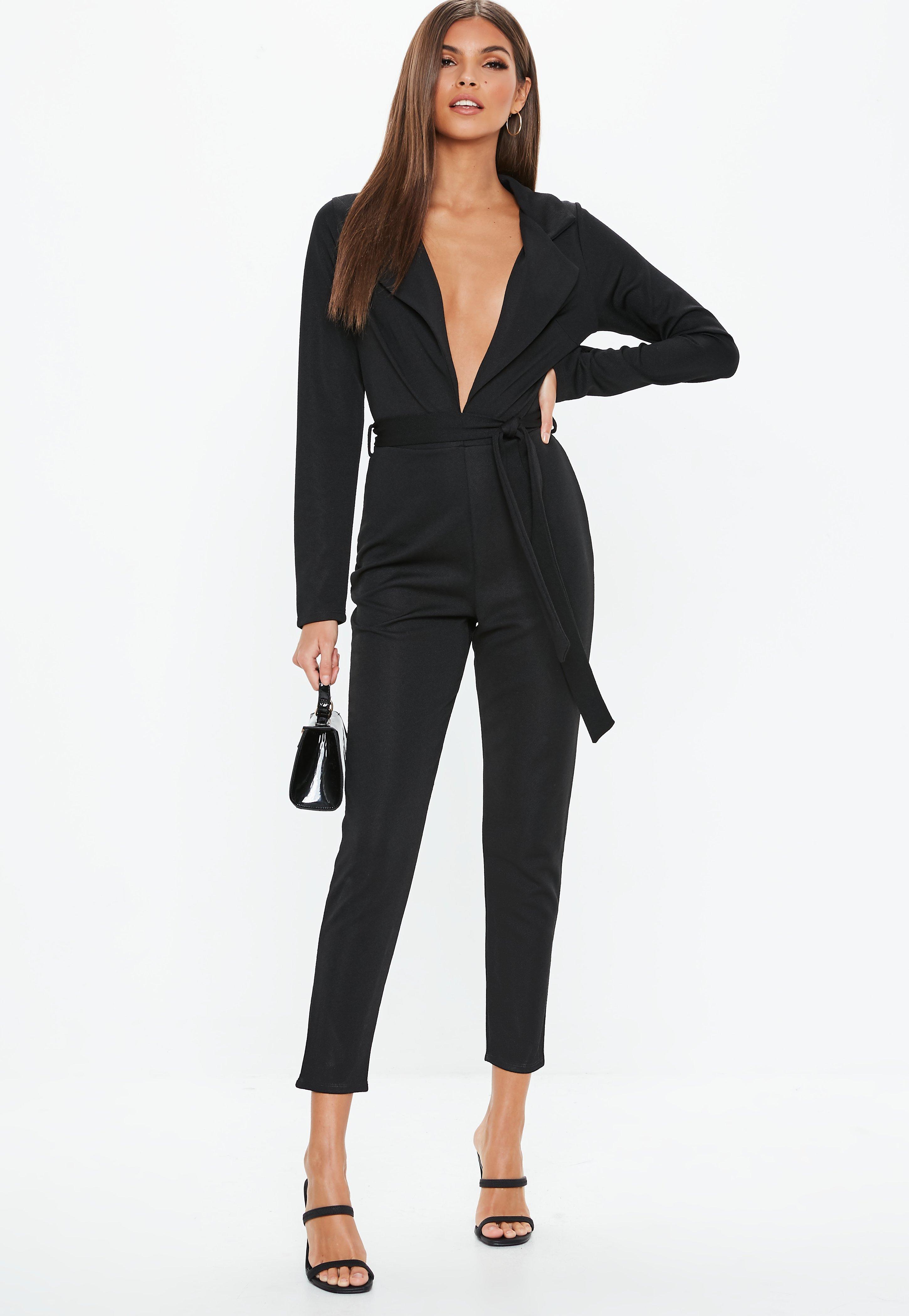 Dressy Black Pantsuits