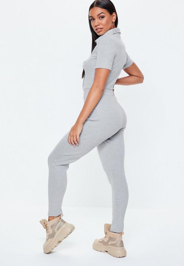 Missguided - Horn Button Ribbed Jumpsuit - 4