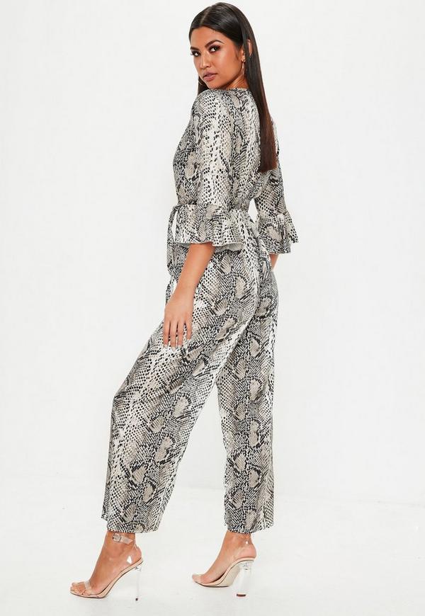 4ac0833fe04 ... Snakeprint Kimono Sleeve Jumpsuit. Previous Next