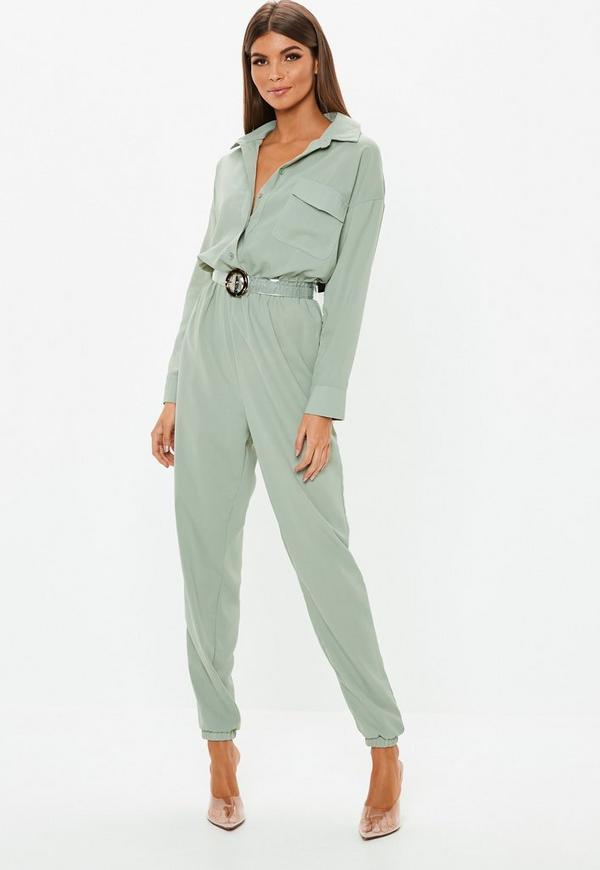 c60c274034d9 Green Utility Jumpsuit