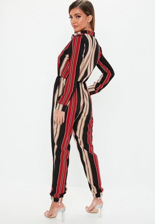 a541f4faac92 ... Black Stripe Utility Jumpsuit. Previous Next