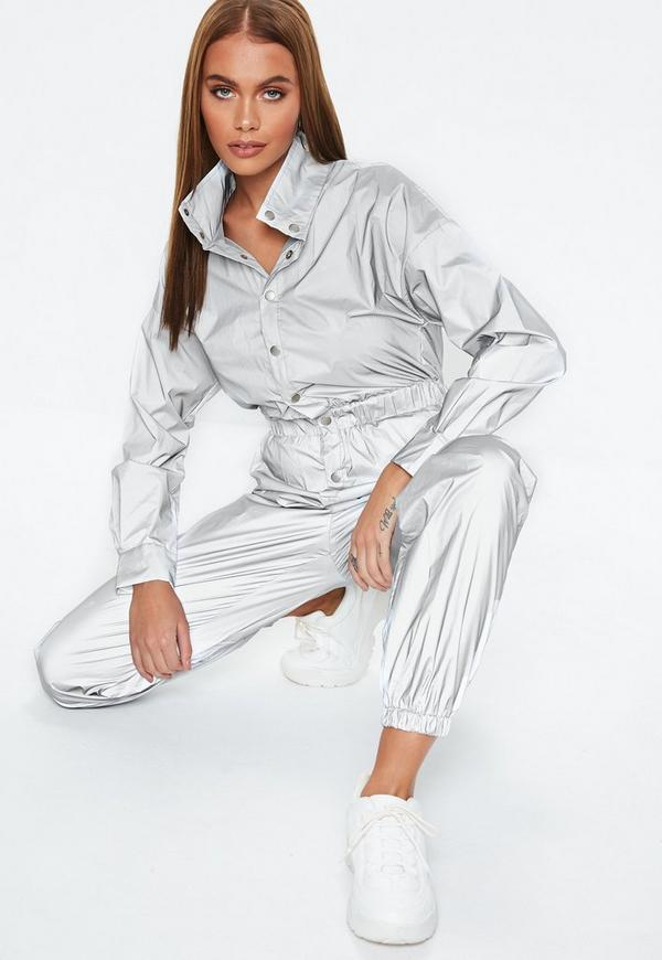 Silver Reflective Jumpsuit by Missguided