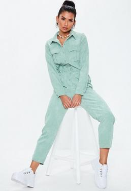 76ed167fd5dc Grey Sleeveless Utility Jumpsuit · Green Cord Utility Jumpsuit