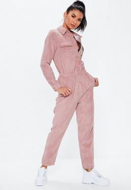 d563b3642ff4 Camel Ribbed Pocket Jumpsuit · Blush Cord Utility Jumpsuit