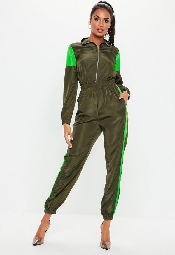 202daa32719 ... Neon Green Colourblock Shell Jumpsuit. Previous Next