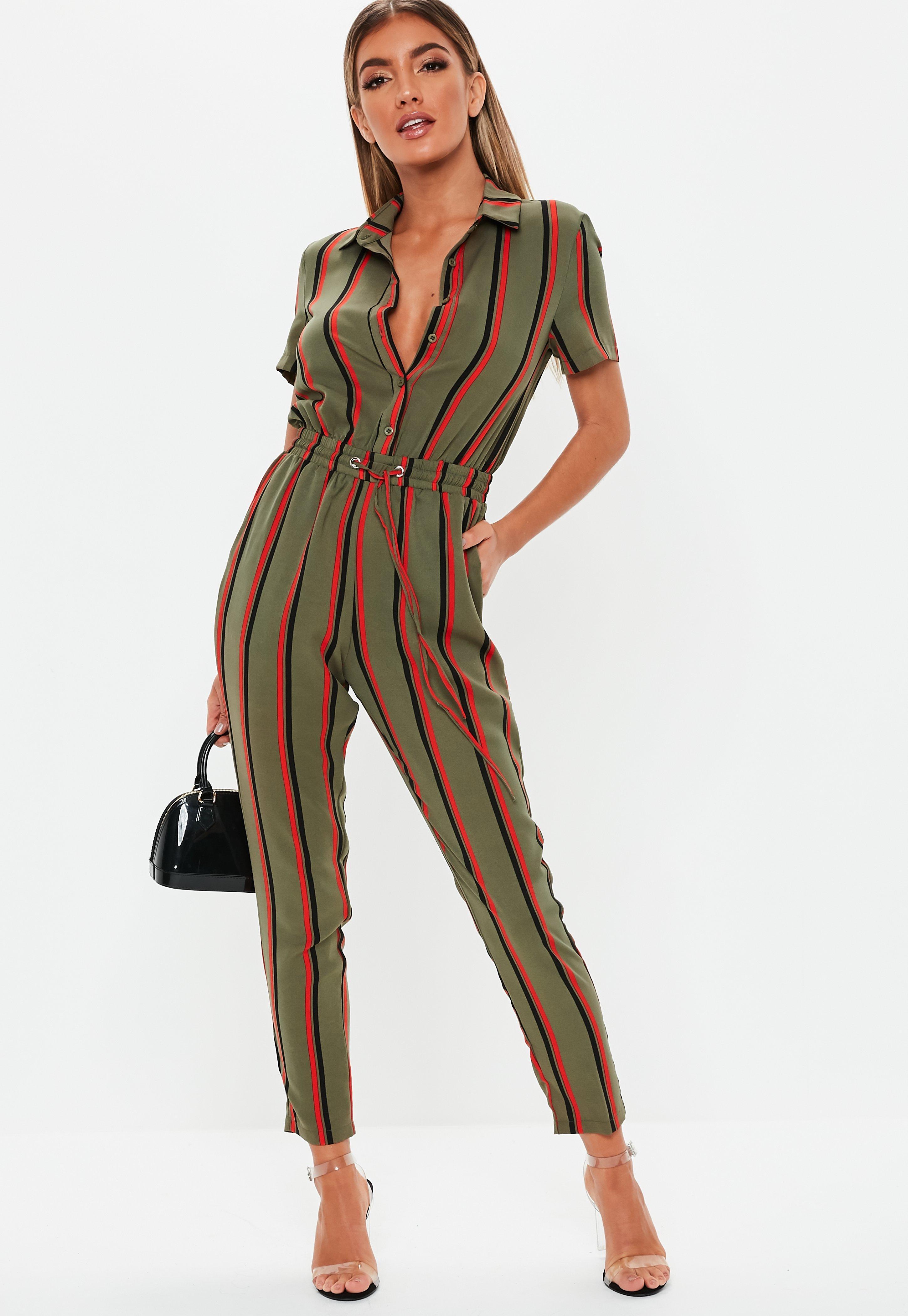 6dd36ce2a Khaki Jumpsuits | Khaki Green Jumpsuits - Missguided