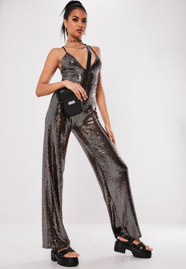 Missguided - Sewn Through Disc Jumpsuit - 1