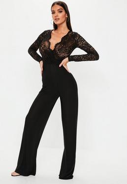 81ae8b1c0e323 Black Jumpsuits · Long Sleeve Dresses