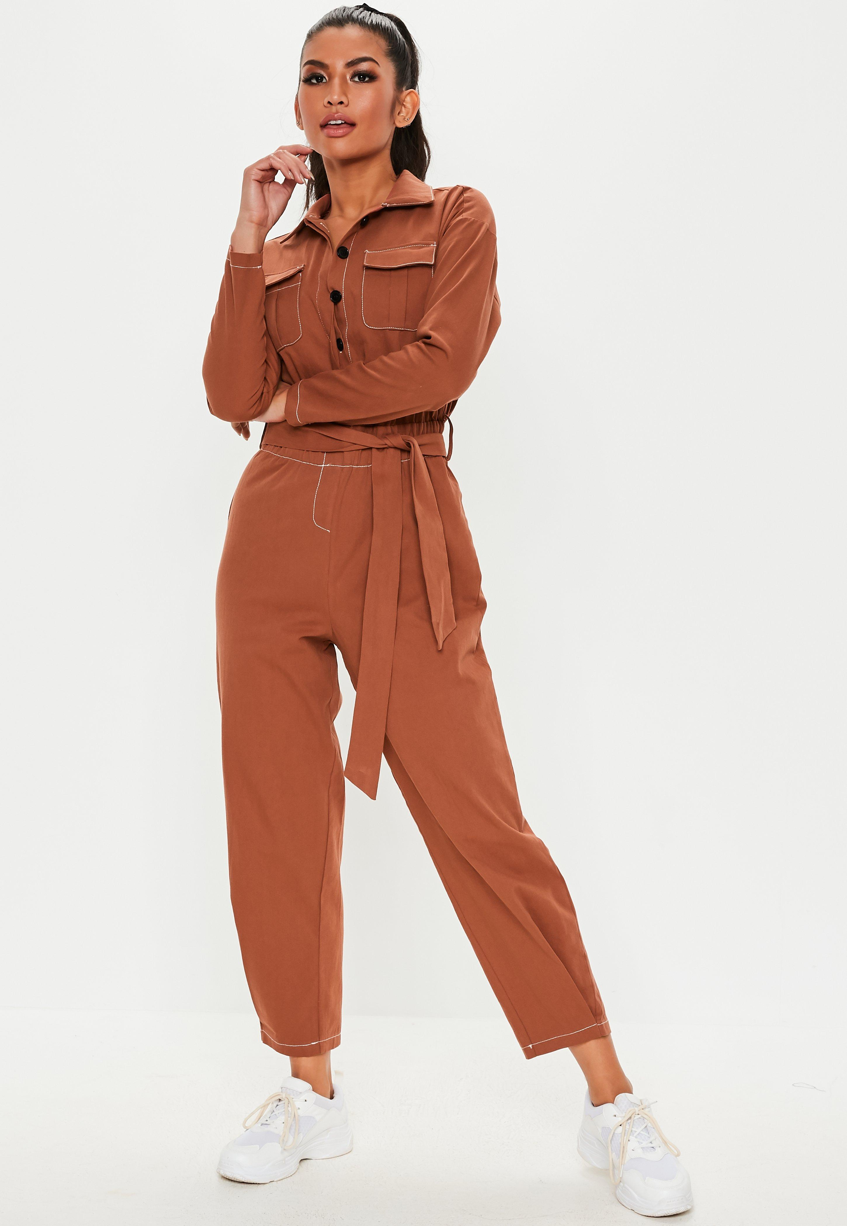 ed7f18783d5 Long Sleeve Jumpsuits - Missguided Australia