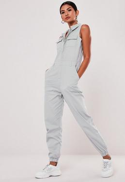 acd973de5d6 Gray Sleeveless Utility Jumpsuit