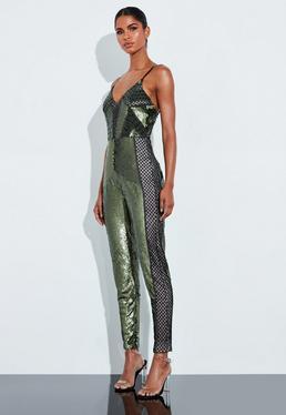 hot-vente plus récent divers styles aspect esthétique Combinaison sequin | Combinaison paillette femme - Missguided
