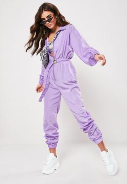 7a1ec24b7 Lilac Belted Shell Jumpsuit