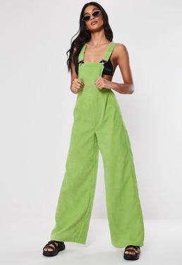 07fc1c68b11 Green Cord Dungaree Jumpsuit