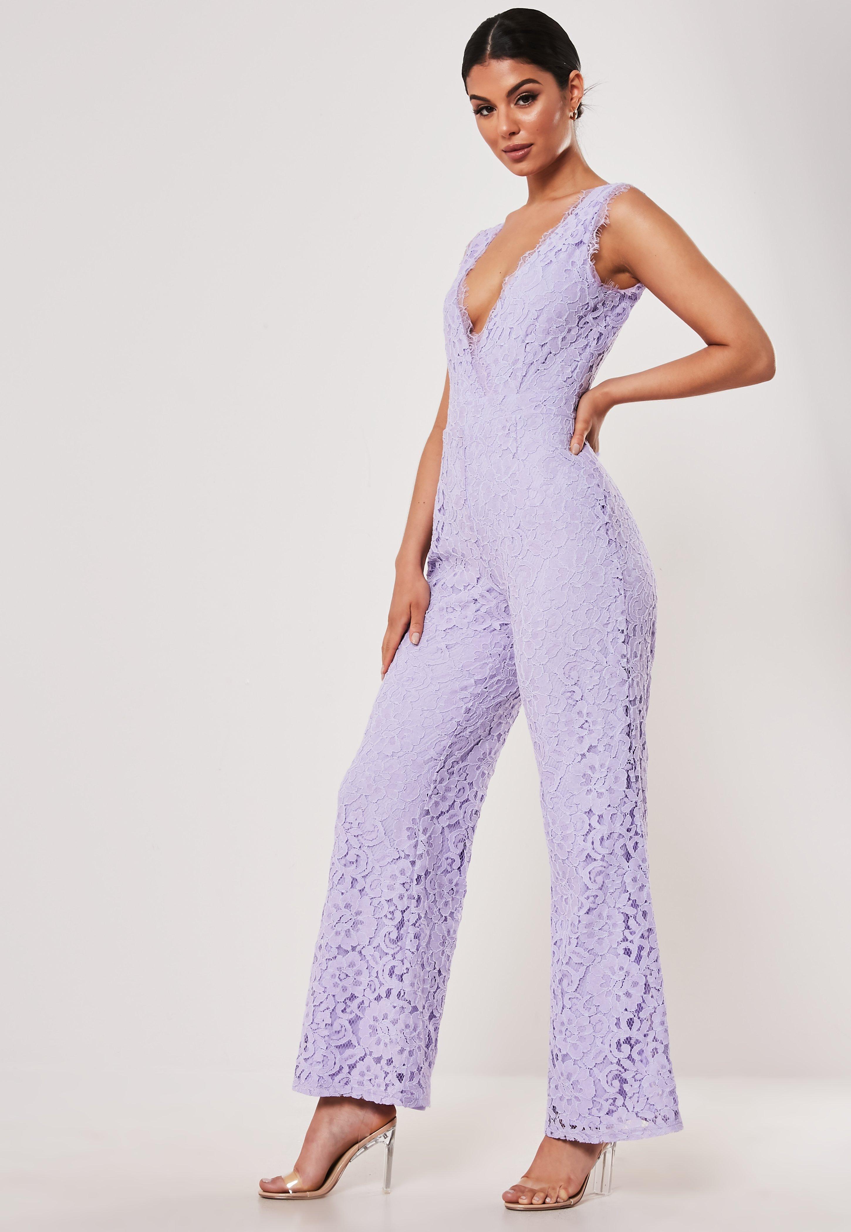 Lilac 80\u2019s Jumpsuit