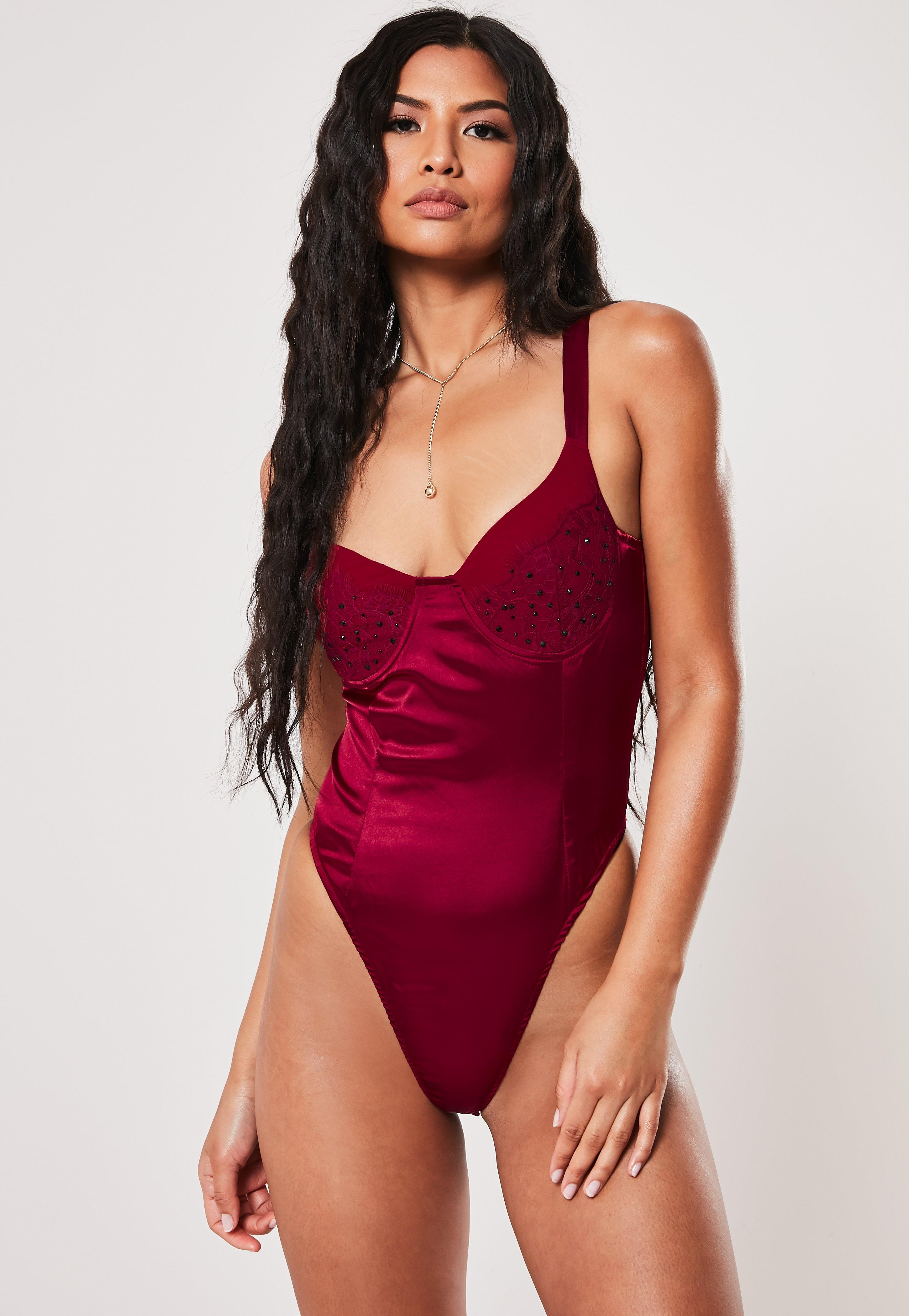 ae6ba0b5 Red Bodysuits - Missguided