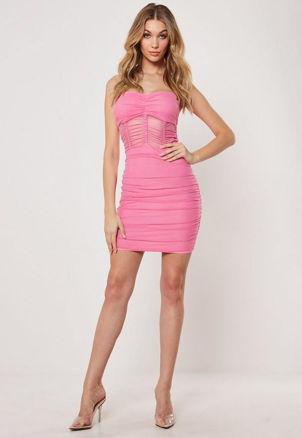 Ted baker pink bodycon bandage dress