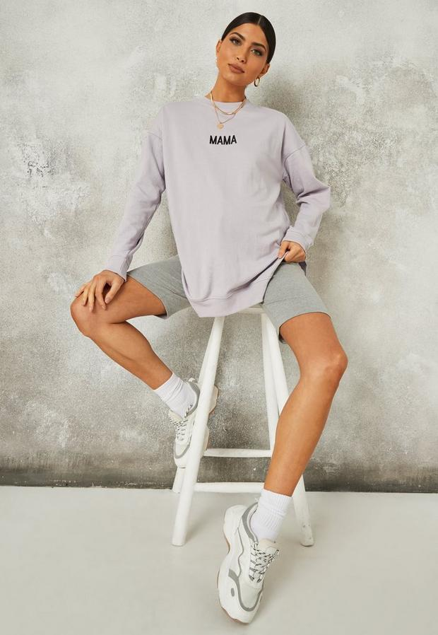 lilac mama graphic maternity sweatshirt