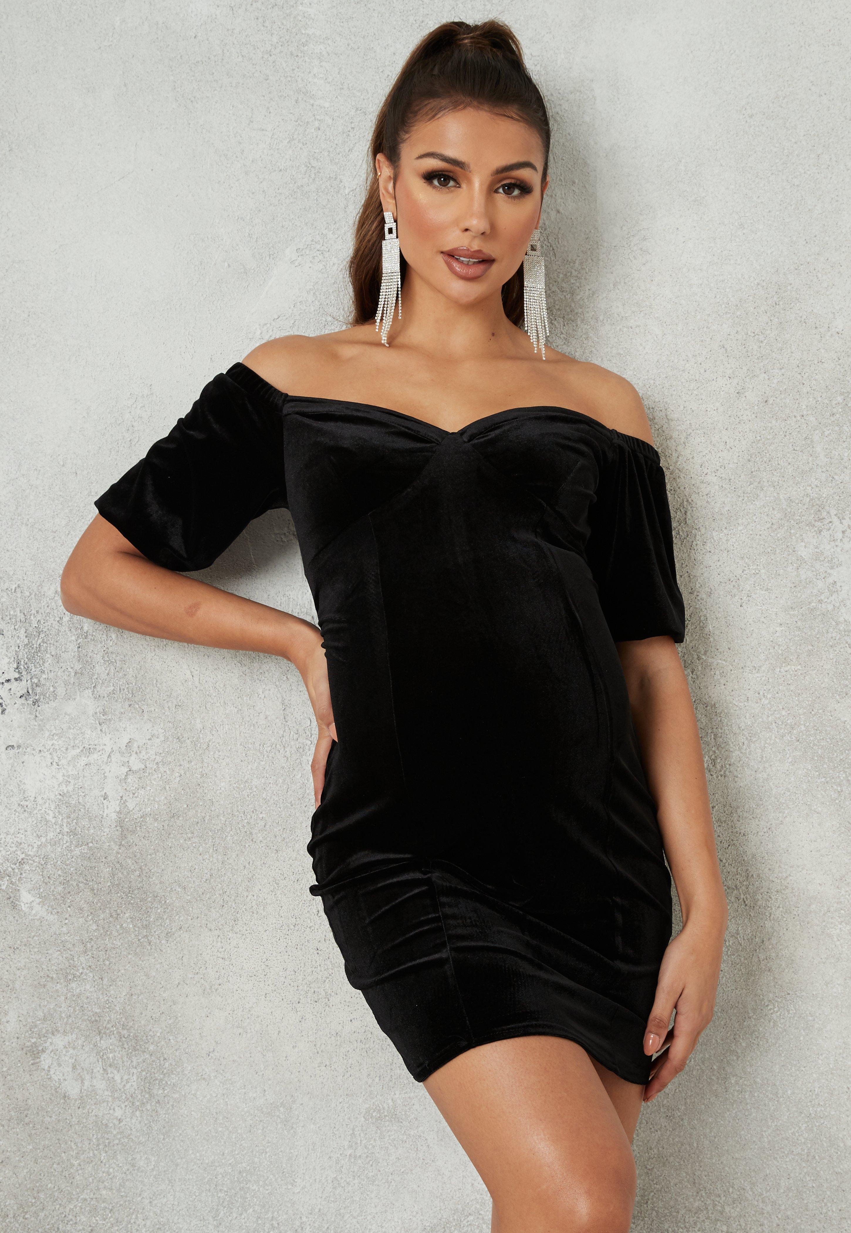 Velvet Dresses Online Black Red Pink Velvet Missguided