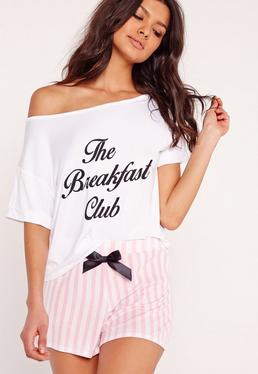 Pink The Breakfast Club Pajama Set
