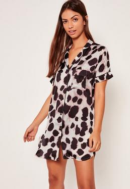 Animal Print Nightshirt Multi